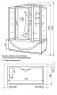 Душевая кабина Luxus 532s 175х90 с парогенератором
