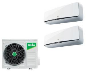 Мульти сплит система на 2 комнаты Ballu B2OI-FM/out-16HN1 / BSEI-FM/in-07HN1 / BSEI-FM/in-09HN1