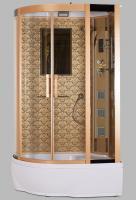 Душевая кабина Niagara Lux 7712G R с гидромассажем Золото