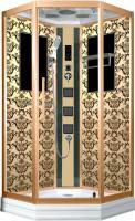 Душевая кабина Niagara Lux 7717G с гидромассажем Золото