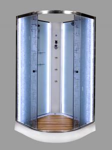 Душевая кабина Deto EM1580 NLED с гм 80х80 c LED подсветкой и гидромассажем