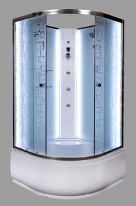 Душевая кабина Deto EM4510 NLED с гм 100х100 c LED подсветкой и гидромассажем