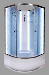 Душевая кабина Deto EM4510 NLED 100х100 c LED подсветкой