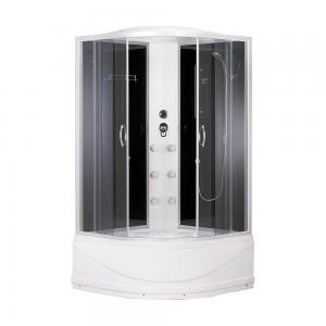 ДушеваякабинаErlitComfort ER3509TPF-C4-RUS90х90 с гидромассажем тонированное стекло