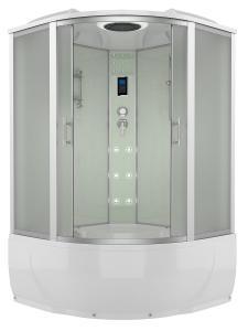 Душевой бокс Erlit Comfort ER4350T-W3 150х150 с гидромассажем матовое стекло