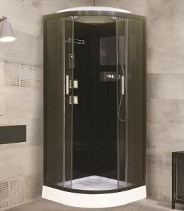Душевая кабина Niagara Premium NG-1701-01B 90х90 с гидромассажем профиль серебро тонированное стекло