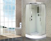 Душевая кабина Niagara Premium NG-1702-01 100х100 с гидромассажем профиль серебро стекло с рисунком волна