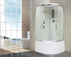 Душевая кабина Niagara Premium NG-1708-01 90х90 с гидромассажем профиль серебро стекло с рисунком волна