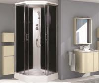 Душевая кабина Niagara Premium NG-2506-01 90х90 профиль серебро тонированное стекло