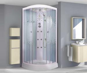 Душевая кабина Niagara Premium NG-3012-01 120х120 с гидромассажем профиль белый стекло с рисунком мозаика