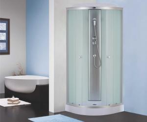 Душевая кабина Niagara Eco NG-4303-08 80х80 профиль серебро матовое стекло