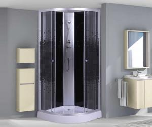 Душевая кабина Niagara Eco NG-4501-08ВК 90х90 профиль серебро стекло с рисунком мозаика