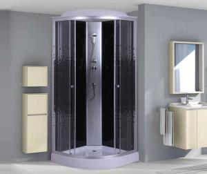 Душевая кабина Niagara Eco NG-4501-08 90х90 профиль серебро стекло с рисунком мозаика