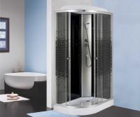 Душевая кабина Niagara Eco NG-4512-08R 120х80 профиль серебро стекло с рисунком мозаика правая