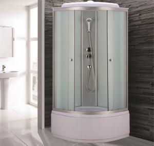 Душевая кабина Niagara Eco NG-7307-14 80х80 профиль серебро матовое стекло