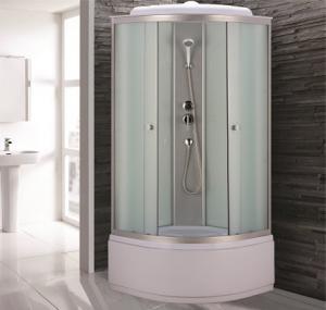Душевая кабина Niagara Eco NG-7309-14 100х100 профиль серебро матовое стекло