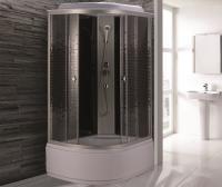Душевая кабина Niagara Eco NG-7510-14R 120х80 профиль серебро стекло с рисунком мозаика правая