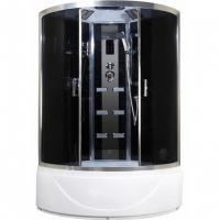 Душевая кабина Niagara Premium NG-918-01N 150х150 с гидромассажем профиль серебро тонированное стекло