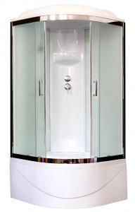 Душевая кабина Royal Bath RB100BK6-WC-CH 100х100 рифленое матовое стекло