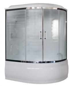 Душевая кабина Royal Bath RB170ALP-C-CH-L 170х100 рифленое матовое стекло с гидромассажем левая