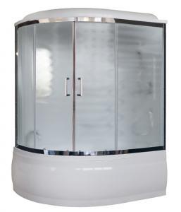 Душевая кабина Royal Bath RB170ALP-C-CH-R 170х100 рифленое матовое стекло с гидромассажем правая