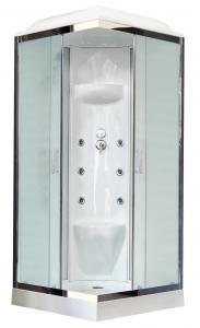 Душевая кабина Royal Bath RB80HP7-WC-CH 80х80 рифленое матовое стекло с гидромассажем