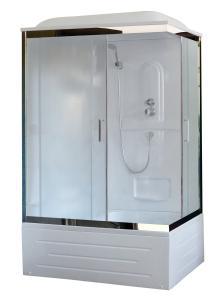 Душевая кабина Royal Bath RB8100BP1-M-CH-L 100х80 рифленое стекло левая