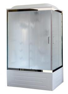Душевая кабина Royal Bath RB8100BP2-M-CH-L 100х80 с гидромассажем рифленое стекло левая