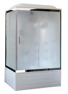 Душевая кабина Royal Bath RB8100BP2-M-CH-R 100х80 с гидромассажем рифленое стекло правая