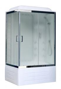Душевая кабина Royal Bath RB8100BP3-WC-CH-R 100х80 с гидромассажем рифленое стекло правая