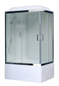 Душевая кабина Royal Bath RB8100BP6-WC-CH-L 100х80 рифленое стекло левая