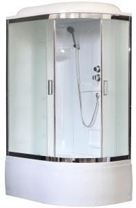 Душевая кабина Royal Bath RB8120BK1-M-CH-L 120х80 рифленое матовое стекло левая