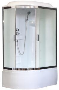 Душевая кабина Royal Bath RB8120BK1-M-CH-R 120х80 рифленое матовое стекло правая