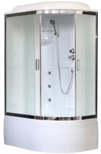 Душевая кабина Royal Bath RB8120BK2-M-CH-L 120х80 рифленое матовое стекло с гидромассажем левая