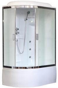 Душевая кабина Royal Bath RB8120BK2-M-CH-R 120х80 рифленое матовое стекло с гидромассажем правая