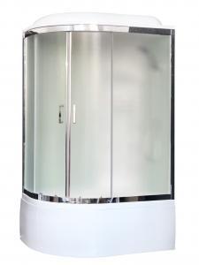 Душевая кабина Royal Bath RB8120BK3-WC-CH-R 120х80 рифленое матовое стекло с гидромассажем правая