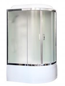 Душевая кабина Royal Bath RB8120BK6-WC-CH-L 120х80 рифленое матовое стекло левая