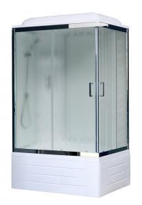 Душевая кабина Royal Bath RB8120BP6-WC-CH-L 120х80 рифленое стекло левая