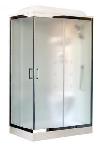 Душевая кабина Royal Bath RB8120HP7-WC-CH-R 120х80 рифленое матовое стекло с гидромассажем правая