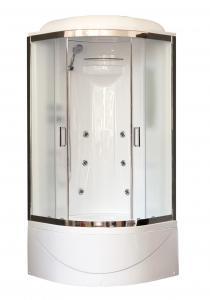 Душевая кабина Royal Bath RB90BK2-M-CH 90х90 рифленое матовое стекло с гидромассажем
