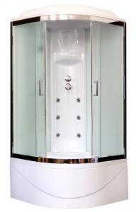 Душевая кабина Royal Bath RB90BK3-WC-CH 90х90 рифленое матовое стекло с гидромассажем