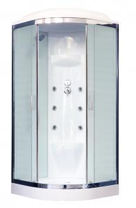 Душевая кабина Royal Bath RB90HK7-WC-CH 90х90 рифленое матовое стекло с гидромассажем