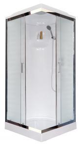Душевая кабина Royal Bath RB90HP1-M-CH 90х90 рифленое стекло