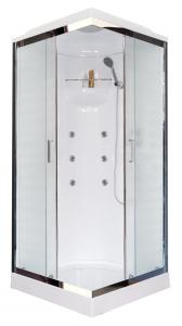Душевая кабина Royal Bath RB90HP2-M-CH 90х90 с гидромассажем рифленое стекло