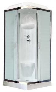 Душевая кабина Royal Bath RB90HP6-WC-CH 90х90 рифленое матовое стекло