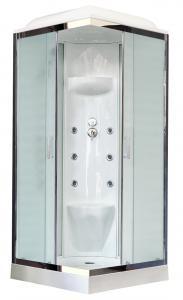 Душевая кабина Royal Bath RB90HP7-WC-CH 90х90 рифленое матовое стекло с гидромассажем