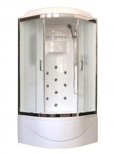 Душевая кабина Royal Bath RB90NRW-C-CH 90х90 рифленое матовое стекло с гидромассажем