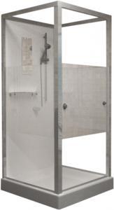 Душевая кабина RGW Andaman OLB-206 90х90 профиль хром стекло Frost Line