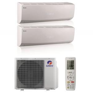 Мульти сплит система на 2 комнаты Gree GWHD(18)NK3KO(LCLH) / GWH(09)QB-K3DNC2G/I 2 шт.