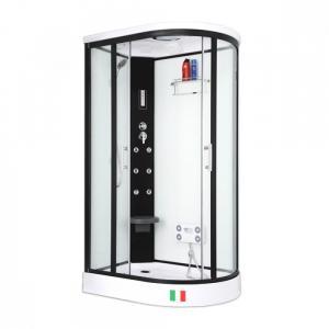 Душевая кабина Maroni Corsica WBLAL-027S 120х85 прозрачное стекло с гидромассажем левая
